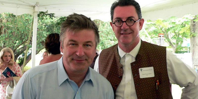 2008. With Alec Baldwin at The Easthampton Book Fair, Easthampton, NY.