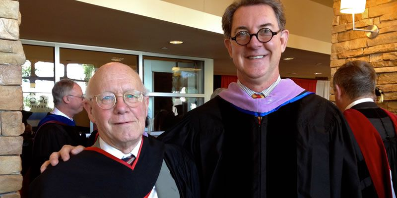 2012. With Christopher Ricks at Boston University.
