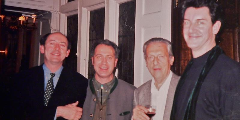With Billy Collins, Greg Delanty and Samuel Menashe-NYC 1998