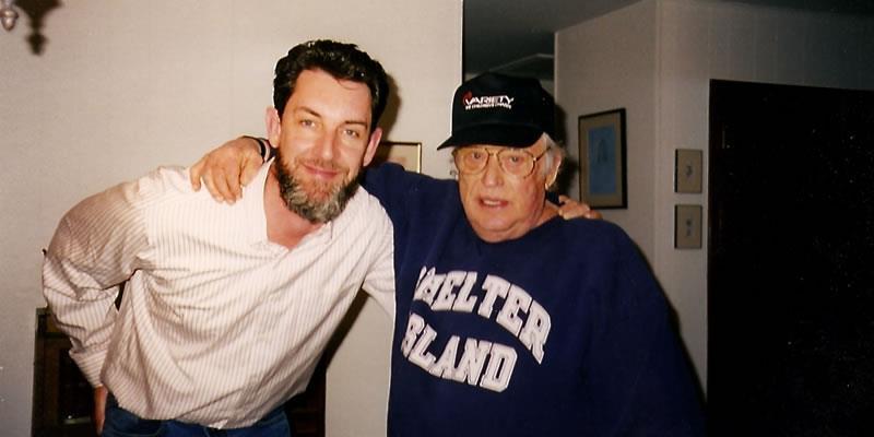 With Leon Uris 1998
