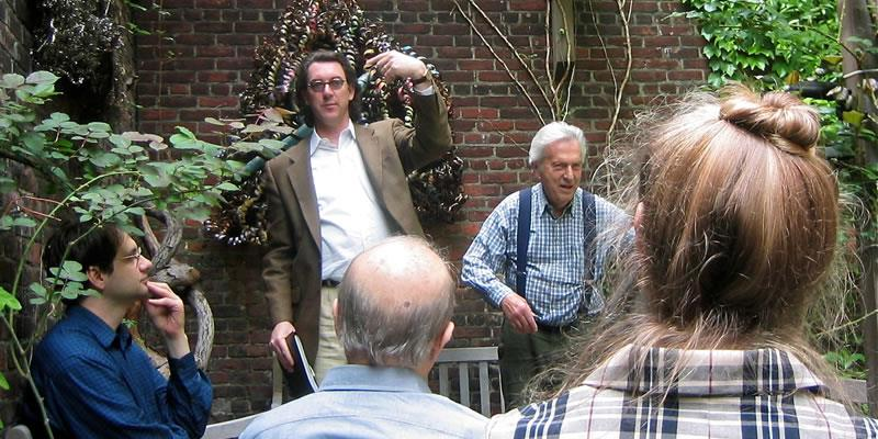With Samuel Menashe in NYC 2002