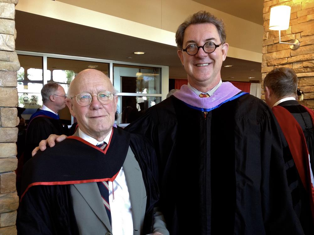 With Christopher Ricks at Boston University 2012